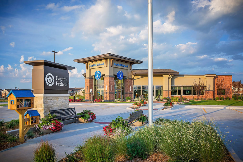 Capitol Federal's new branch in Maize, Kan., by WDM Architects